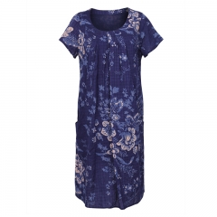 New design summer printed women maxi casual dress