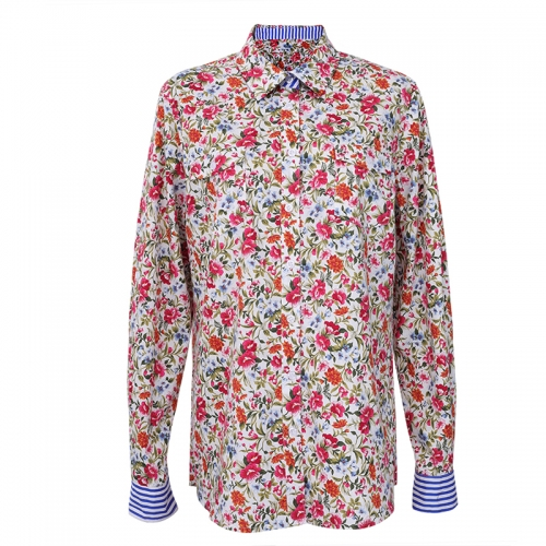 Women long sleeve autumn floral printed blouse & tops y blusas